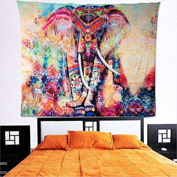 tapiz elefante indio pared, cama, decorar